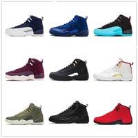 Мужчины Университет Blue Gold 12 Баскетбол 12s Обувь Черный Темный Конкорд Низкий Пасхальный Обратный грипп Игра Артрический Пунч Женщины Кроссовки Тренеры