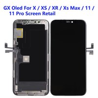 For iPhone X Xs Max LCD Panels Used to repair phone display GX Oled 11 Pro Touch Digitizer Screen Assembly Replacement Gifts Tempered glass film & tools