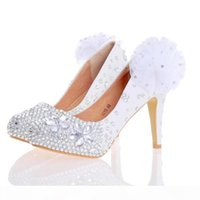 White Red Women High Heels Silver Rhinestone Wedding Party Shoes Handmade Bridal Dress Shoes with Appliques Bridesmaid Shoes