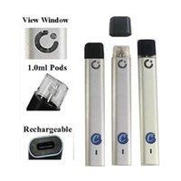 Çerezler Şarjlı Vape Kalem 1.0 ML Kalın Yağ Pod Tek Kullanımlık E-Sigara Başlangıç Kiti Kartuşları Buharlaştırıcı Ambalaj Çanta Boş 240 mAh Pil Seramik Bobin Buharlaştırıcılar