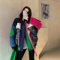 Women's Wool & Blends Arrival Autumn Korea Fashion Women Long Sleeve Loose Vintage Jackets Thicken Warm Patchwork Design Casual Co