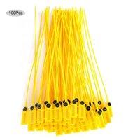 100 stücke Gelb Kunststoff Sicherheitsdichtung 40 cm Label Kabel Küche Speicher Snack Dichtungsbeutel Clips Handheld Werkzeug
