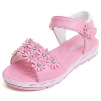 Sandals Summers Baby Girl Shoes Kids Soft Bottom Flowers Princess Children Girls Beach Pink Rose 3T 4T 5T 6T-15T