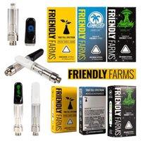 Amichevoli aziende agricole Vape Cartridges Atomizzatore con bobina ceramica Pyrex Glass 510 Cartuccia imballaggio Muha Meds TKO TH205