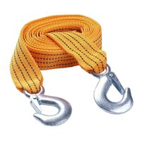 3 Tons 3Metres Heavy Duty Tow Strap with Hooks Car Truck Tow Cable Towing Strap Rope
