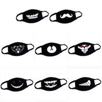 Halloween Funny Cotton Dust Masks Cartoon Expression Teeth beard Muffle Chanyeol Black Face Respirator Anti Bear Mouth Mask