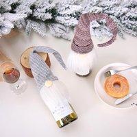 Christmas Vermelho Garrafa de Vinho Tampa Decoração Nordic Santa Claus Champagne Set Hotel Restaurante Decorações de Natal NHE10430