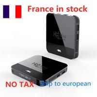 Nave de Francia 10 unids / lote H96 Mini H8 Android 9.0 TV Box 2GB 16GB Rockchip RK3328A Soporte 1080P 4K BT4.0