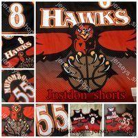 Mens Vintage AtlantaFaucadeJerseys Mutombo Smith Broderie 1996/97 Mitchell Ness HardwoodsChemises de maillots de basketball classiques