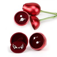 금속 장미 꽃 쥬얼리 상자 수 지베이스 선물 상자 포장 크리스마스 발렌타인 선물 홈 장식 장식품 DDA6014