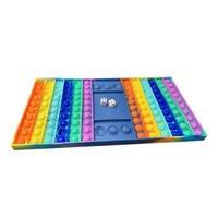 rainbow decumpression لعب فقاعة الشطرنج الإجهاد الإجهاد تململ لعبة البوب التوحد احتياجات خاصة الهدايا الحسية للأطفال حزب لعبة
