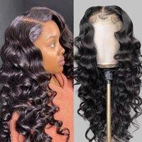 Alinybeauty Loose Wave Brazilian Hair Wig Full Virgin Brazilian Cuticle Aligned Human Hair 13*4 Lace Front Wigs