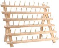 أدوات الخياطة أدوات المنزل 60 بكرة خشبية موضوع الرف والمنظم الصلبة الخشب الجرف الطي التخزين للاحتفال