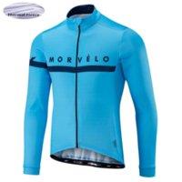 Morvelo Kış Termal Polar Bisiklet Jersey Uzun Kollu Ropa Ciclismo Hombre Bisiklet Giyim Bisiklet Giyim Maillot Ciclismo