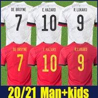 R.Lukaku de Bruyne Soccer Jerseys Batshuayi Tielemans E.HAzard Football Jersey Vanaken Mertens Castagne T.Hazard المنتخب الوطني Home Oway Away Kids Kit Kit 20/21