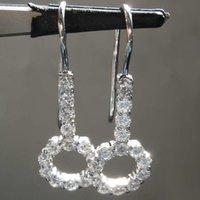 Dangle & Chandelier Huitan Shiny CZ Stone Earrings Women Silver Color Elegant Accessories Daily Wear Party Statement Drop