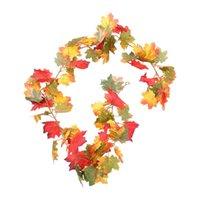 Decorative Flowers & Wreaths 1Set Thanksgiving Hanging Decor Artificial Autumn Vine
