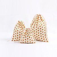 Décorations de Noël sac cadeau sac coton en toile de draps sacs de sac à sac avec no xmas banana coco de coco d'ananas kkb6990
