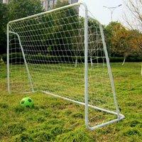 Стальная рамка 8 'X 5' Портативный футбольный Цель Футбол Чистый Быстрый шаровой спортивный тренинг