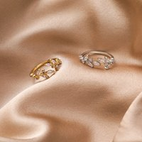 Butterfly Ring 2020 Korea's New Sweet Leaf Butterfly Ring Fashionable Temperament Simple Mouth Adjustable Ring Jewelry