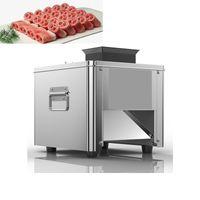 220V elektrische Fleischschleifmaschine Slicer Full Edelstahl Schneidemaschine kommerziellen vollautomatischen Scheibenschneider 850w