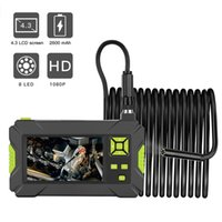 Cameras Handheld Borescope Industrial Inspection Autoscope Waterproof HD 1080P 4.3 Inch Screen LED Light With 2m 5m 10m Cable