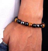 Natural Black Onyx With Natural Stone Hematite Stone Tiger Eye Beaded Strand Wrap Buddha Bracelets&ampBangles Jewelry Accessori wjl4127