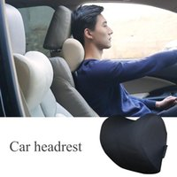 Seat Cushions Black Car Headrest Neck Pillow For Chair In Auto Memory Foam Cushion Fabric Cover Soft Head Rest Travel Support