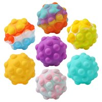 Pops Bubble Dimple 3D Ball Fidget Toy Decompression Finger Squeeze Toys for Kids Adult Family Interactive Sensory Toys