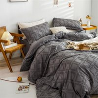 Bedding Sets Luxury Comforter Set 3D Double Queen Size Pleated Quilt Cover Bed Sheet Pillowcase Lacework Duvet Bedspread