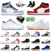 Sapato Air Jordan Retro 1 Mocha Jordans Jumpman 11 Citrus Low Tênis de basquete masculino feminino Fearless 1s Mid University Blue Concord High 25th 11s Space Jam Tênis de treino