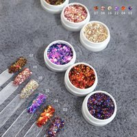 Nail Glitter Holographic Flakes Mixed Manicure Laser Sequinsr DIY Dipping Powder For Acrylic Beauty Nails Decorate