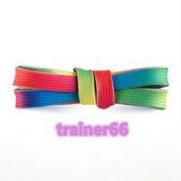 Schnürsenkel Unisex-Seile Multicolor Wached Rundschnur Kleid Schuhschnellen DIY Hohe Qualität Fest 100-150 cm Bunte 21