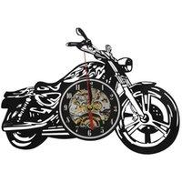Wall Clocks Motorcycle Acrylic Record Clock Time Watch House Motorbike Art Decor