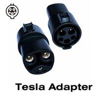 Tesla Adaptörü 16A 32A 60A Elektrikli Araç EV Şarj SAE J1772 Soket Tip 1 Tesla Bağlayıcı EV Adaptörü için Şarj