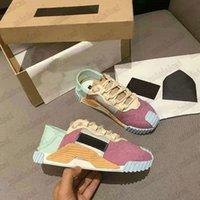Classic Sorrento NS1 Slip-On Sneakers Mesh Knit Gummierte Kalbsleder Italien Luxurys Mens Sneaker Designer Trainer Damen Freizeitschuhe