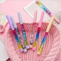 Pena de gel caneta kawaii 0.5mm fada vara de cristal tronco glitter neutral arco-íris colorido para escrever material de chancelaria Escolar1 JF1x