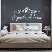 ملصقات الحائط كبير زفاف الأحلام الحلوة صائق نوم غرفة المعيشة الأسرة الحب زوجين اقتباس ملصق ديكور المنزل