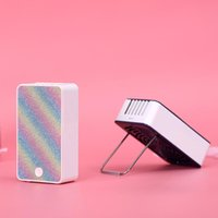 Electric Fans Portable Handheld Mini Cooli USB Fan Desk Air Conditioner Humidification Cooling Rechargeable Grafted Eyelashes Dryer