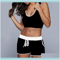 Outfits Exercise Wear Athletic Outdoor Apparel & Outdoors2Pcs Set Sexy Women Yoga Sleeveless Breathable Tank Top Bra Fitness Shorts Running
