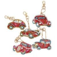 Diamond Painting HeeBenor Store Comming 5Pcs Car Keyring DIY Keybuckle Bag Pendant Ornament Keychain YSK43
