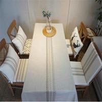 3 잎 면화 소재 식탁보 커버 커피 패드 차 티 매트 자연 컵 오일 방수 담요 antepenium 테이블 천