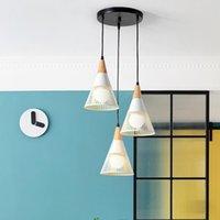 Chandeliers Europe Nordic Led Glass Ball Iron Lustre Suspension Pendant Lights Ring Lamp Hang Livingroom
