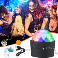 Effects Sound Activated Multi-colo Wireless Disco Ball Lights RGB DJ Stage Light Mini Portable LED Party Strobe Car With USB