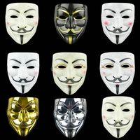 Party Cosplay Maschere di Halloween Maschere da festa per la maschera Vendetta Anonymous Guy Fawkes Fancy Adult Costume Accessory Gyq