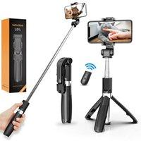 L01S Esnek Selfie Sopa Uzatılabilir Selfie Monopodlar Ayrılabilir Kablosuz Uzaktan Uzaktan Çok Fonksiyonlu Tripod Standı Için Smartphone