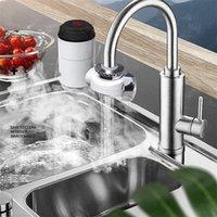 Robinet de chauffage électrique Robinet d'évier instantané Robinets de chauffage à eau chaude avec écran de température LCD pour la salle de bain maison Cuisine 2126 V2