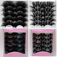Faux mink lashes explosive false eyelashes 5D 25mm long fluffy 5 pair a pink packing box multi-layer lengthened thick thickened fake lash cases