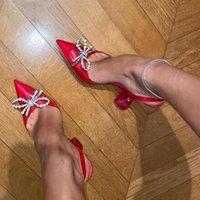 80% di sconto sul negozio online Sandali di lusso di lusso Sandali Farfalla Strass Orcoracita PVC PVC in vetro trasparente Gladiatore Gladiatore 2021 Summer Celebrity Shoes 40