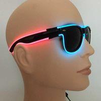 Party LED Neon Up DJ SunGlasses Flashing EL Rave Wire Decor Birthday Glasses Costume Light Wdnil